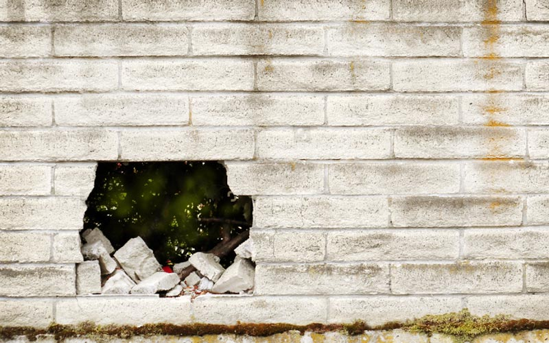 How to Repair a Big Hole in a Cinder Block Wall?