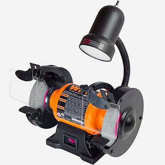 Tools to Have in Workshop - WEN-Bench-Grinder-with-Work-Light