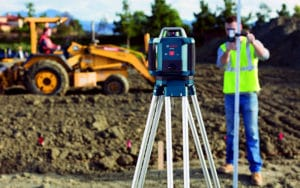 laser level for outdoor use